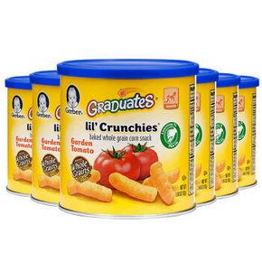 GERBER 嘉宝 手指泡芙混合蔬菜味 番茄味 42g*6罐 55.5元(49+6.5)