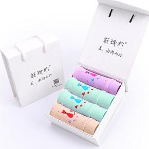 钰玲妃 透气纯棉内裤礼盒 4条  19.9元包邮(39.9-20券)