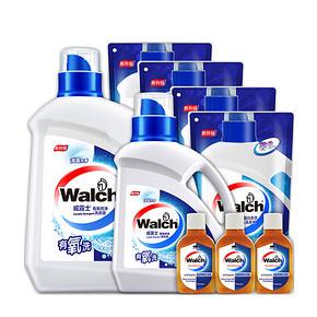 前1分钟# 威露士 有氧洗 洗衣液超值套装 39.9元包邮(69.9-30)