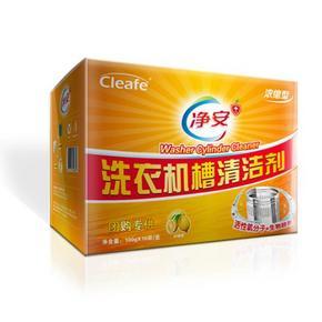 前10分钟半价# 净安 洗衣机槽清洁剂柠檬味16袋 折19.4元(买2免1)