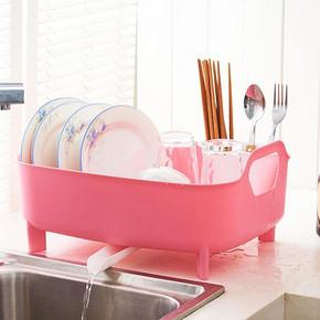 减少水渍# 康丰 厨房塑料沥水餐具置物架 16.9元包邮