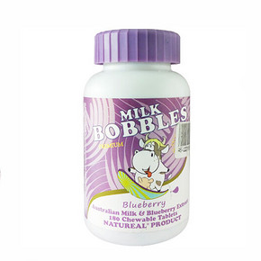 比糖都好吃# milk bobbles 高钙奶片 蓝莓味 180粒 43.8元(38.5+5.3)
