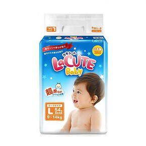 日本 乐可爱 婴儿纸尿裤 L54 59.40元
