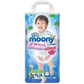 moony 尤妮佳 男婴用拉拉裤 XL38片 77.9元(69+8.9)