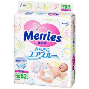 花王 Merries 妙而舒 婴儿纸尿裤 S82 88.4元(79+9.4)
