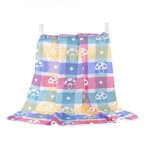嘻嘻兔 婴儿纯棉2层纱布浴巾 70*70cm 7.9元包邮(12.9-5券)