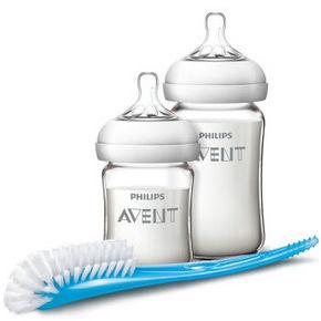 AVENT 新安怡 自然顺畅玻璃奶瓶哺育套装+吸管杯 108元包邮