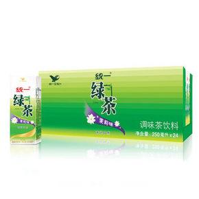 喝茶防辐射# 统一 茉莉味绿茶 250ml*24盒 21.9元