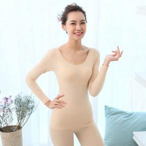 前30分钟半价# 俞兆林 蕾丝圆领薄款保暖内衣套装 19.9元包邮(39.9-20)