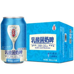 手慢无# 宜养 乳酸菌 奶啤风味饮品 300ml*6罐 9.9元(可买6件)