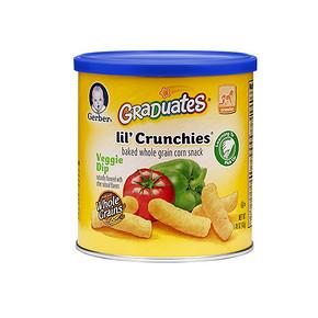 GERBER 嘉宝 婴幼儿手指泡芙 蔬菜味 42g*11罐 122元(209-100+13)