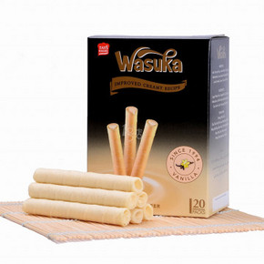 Wasuka 哇酥咔 香草味味爆浆威化卷 240g 折4.9元(买1送1)