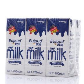 手慢无# 上质 欧岚 全脂牛奶200ml*6盒 7元包邮