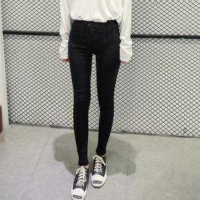 更显大长腿# 江南女孩 韩版高腰弹力一粒扣铅笔裤 25元包邮