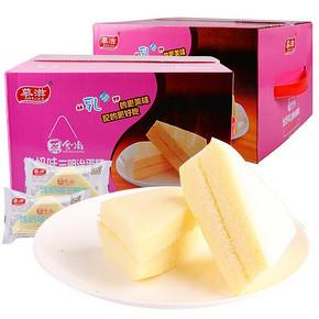前10分钟# 慕滋 炼奶三明治蒸蛋糕 500g*2箱 送手撕面包  21点  23.6元包邮