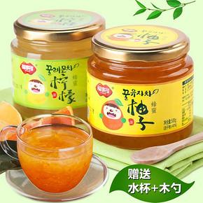 福事多柚子茶500g+柠檬茶500g 送杯勺  29.9元包邮(34.9-5券)