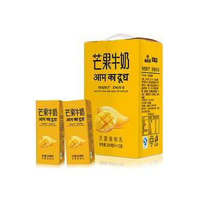 新希望 芒果牛奶饮品 200ml*12盒 22.4元(2件75折)