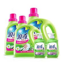 前5分钟# 浪奇 洗衣液家庭装 5瓶 23点 39.9元包邮(69.9-30)