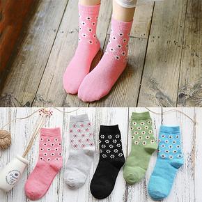 袜子也卖萌# 添超 情侣兔羊毛中筒袜 5双装 15.8元包邮(25.8-10券)