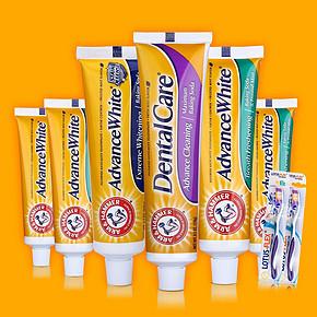 前3分钟返半价# 美国进口 艾禾美 小苏打牙膏 8件装 39.8元包邮(79.5返39.7)