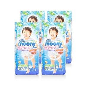 moony 尤妮佳 男宝宝用拉拉裤  XL38片*4包装 329元包邮(312+37-20券)