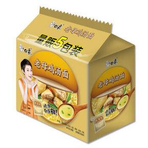 白象 珍骨汤 经典系列 老母鸡汤面  五连包 6.9元