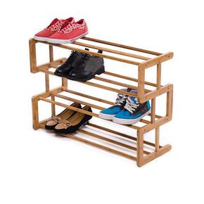 竹子材质# 天竹 简易实木鞋架 29元包邮(69-40券)