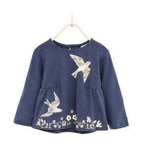 ZARA 鸟和花卉系列 女童T恤 39元包邮