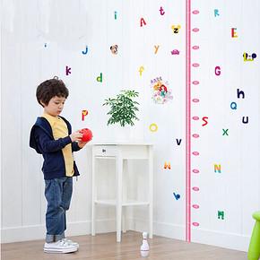 迪士尼 卡通儿童房身高墙贴 5.9元包邮(15.9-10券)