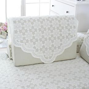 四季通用# 奇隆 蕾丝方形沙发巾 60x60cm  2元包邮(5-3券)