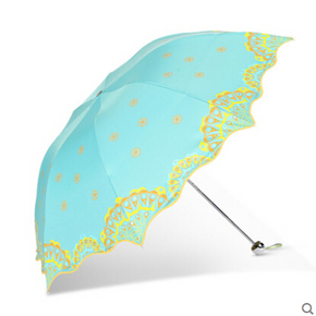 天堂伞 丽江风情 遮阳晴雨两用三折太阳伞 19.4元(下单5折)