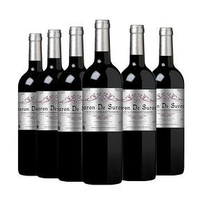 折14.6元/瓶# 法国进口 苏荷男爵 干红葡萄酒 750ml *6瓶 88元