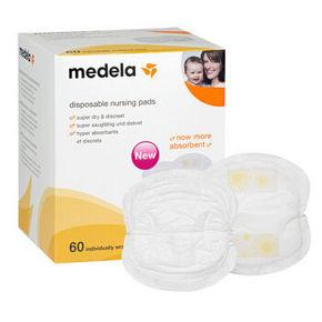 Medela 美德乐 一次性乳垫 60片装*2件 59元包邮