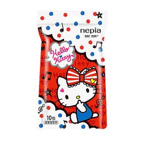 妮飘 凯蒂猫湿纸巾 10片单片装 5.9元