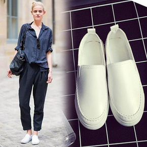 百搭时尚# 迈凯路 韩版皮面小白鞋 39元包邮(69-30券)