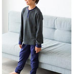 UNIQLO  优衣库 男童 长袖起居套装  59元