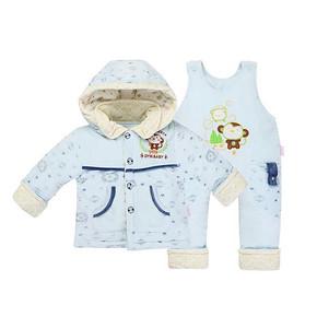 钓鱼猫 新生儿保暖薄棉衣套装 2套 158元包邮(258-100券)