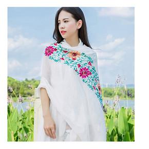 文艺民族风# 蝶舞秀 文艺民族风棉麻女围巾披肩 7.9元包邮(9.9-2券)