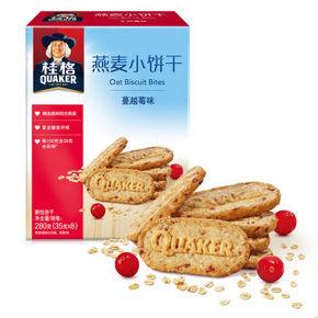 桂格 燕麦小饼干 蔓越莓味 35克*8包 折15.9元(21.9,99-30)