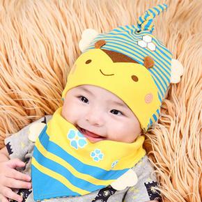 萌萌哒# New Rain 婴儿纯棉套头帽 8.9元包邮(11.9-3券)