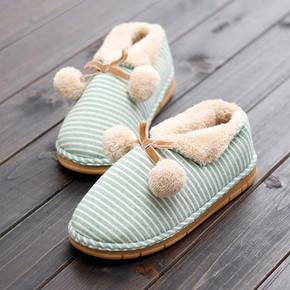 Sumple 冬季包跟保暖棉拖鞋 9.9元包邮