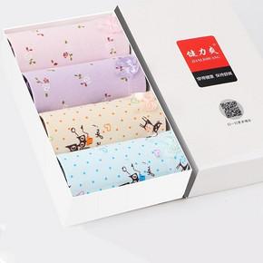健力爽 女士纯棉内裤 4条装 16.9元包邮(29.9-10-3券)