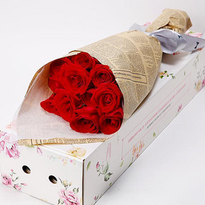 北京上海# 爱唯一 红粉香槟玫瑰 11枝 19.9元包邮(39.9-20券)
