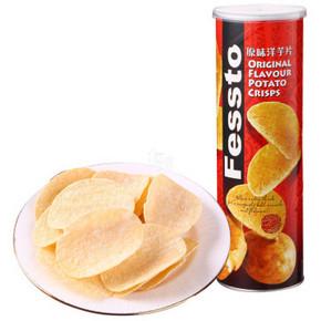 Fessto 菲思图 原味 薯片 160g*2件 5元(买1赠1)