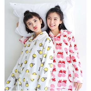 最爱闺蜜装# dahuahome 韩版珊瑚绒睡衣套装 39.9元包邮