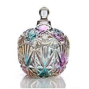 碧丽 彩色玻璃带盖糖果罐 2款可选 19元包邮(39-20券)