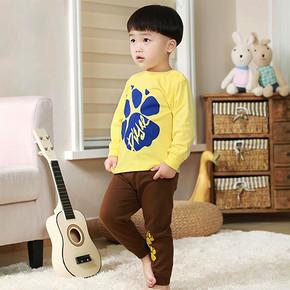 北极绒 纯棉儿童长袖内衣套装 19.9元包邮(29.9-10券)