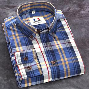 前2分钟半价# 碳磨水洗纯棉修身格子衬衫 15点 29元包邮(59返30)
