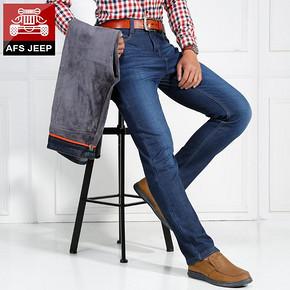 前10分钟半价# AFS JEEP 加绒加厚牛仔裤 43元(86返43)