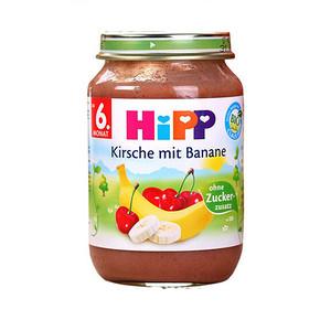 HIPP 喜宝 有机香蕉樱桃果泥 6个月以上 190g 11.7元(9.9+1.8)